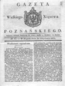 Gazeta Wielkiego Xięstwa Poznańskiego 1831.01.21 Nr17
