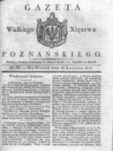 Gazeta Wielkiego Xięstwa Poznańskiego 1831.04.19 Nr89