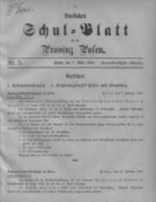 Amtliches Schul-Blatt für die Provinz Posen 1906.03.05 Jg.39 Nr5