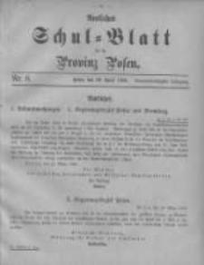 Amtliches Schul-Blatt für die Provinz Posen 1906.04.20 Jg.39 Nr8