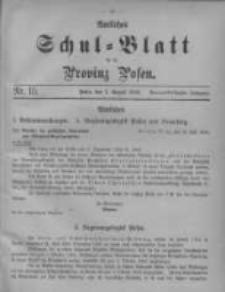Amtliches Schul-Blatt für die Provinz Posen 1906.08.05 Jg.39 Nr15