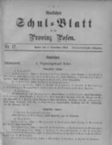 Amtliches Schul-Blatt für die Provinz Posen 1906.09.05 Jg.39 Nr17