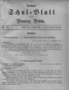 Amtliches Schul-Blatt für die Provinz Posen 1906.10.05 Jg.39 Nr19