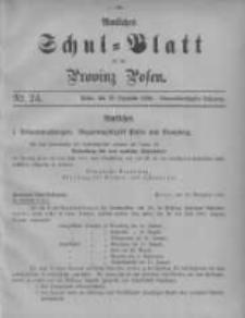 Amtliches Schul-Blatt für die Provinz Posen 1906.12.20 Jg.39 Nr24