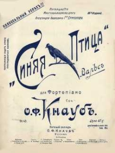 Op. 43, Granatowy ptak