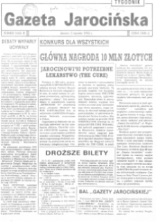 Gazeta Jarocińska 1992.01.03 Nr1(65)