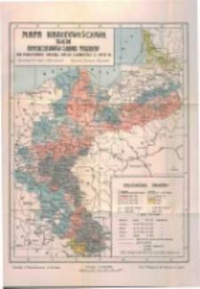 Mapa narodowościowa ziem dotychczasowego zaboru pruskiego 1:2.000.000: na podstawie urzędowych spisów ludności z r. 1905 i 1910: ze statystyką narodowościową dzielnicy pruskiej