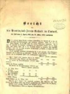Bericht über die Provinzial-Irren-Anstalt in Owinsk die Zeit vom 1. April 1891 bis 31. März 1892 umfassend