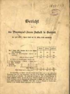 Bericht über die Provinzial-Irren-Anstalt in Owinsk die Zeit vom 1. April 1892 bis 31. März 1893 umfassend