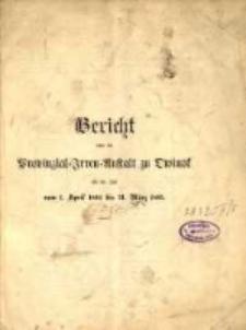 Bericht über die Provinzial-Irren-Anstalt in Owinsk die Zeit vom 1. April 1894 bis 31. März 1895