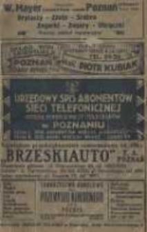 Urzędowy spis abonentów sieci telefonicznej Okręgu Dyrekcji Poczt i Telegrafów w Poznaniu 1926-27