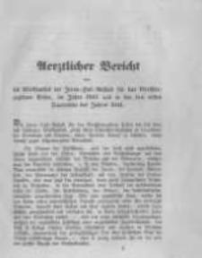 Aerztlicher Bericht über die Wirksamkeit der Irren- Heil- Anstalt für das Grossherzogthum Posen, im Jahre 1843. und in den drei ersten Quartalen des Jahres 1844