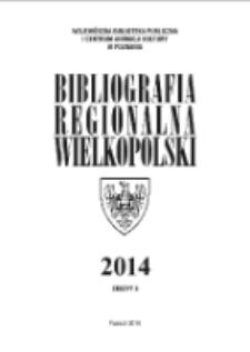 Bibliografia Regionalna Wielkopolski: 2014 Nr5