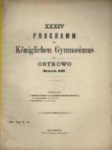 Programm des Königlichen Katholischen Gymnasiums zu Ostrowo...