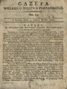 Gazeta Wielkiego Xięstwa Poznańskiego 1815.07.05 Nr53