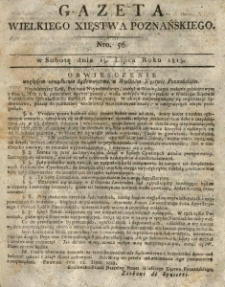 Gazeta Wielkiego Xięstwa Poznańskiego 1815.07.15 Nr56
