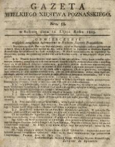 Gazeta Wielkiego Xięstwa Poznańskiego 1815.07.22 Nr58