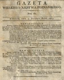 Gazeta Wielkiego Xięstwa Poznańskiego 1815.08.05 Nr62