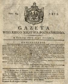 Gazeta Wielkiego Xięstwa Poznańskiego 1815.08.12 Nr64