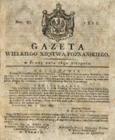 Gazeta Wielkiego Xięstwa Poznańskiego 1815.08.16 Nr65