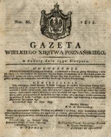 Gazeta Wielkiego Xięstwa Poznańskiego 1815.08.19 Nr66