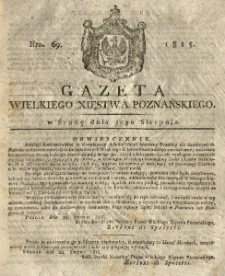 Gazeta Wielkiego Xięstwa Poznańskiego 1815.08.30 Nr69