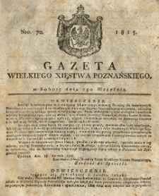 Gazeta Wielkiego Xięstwa Poznańskiego 1815.09.02 Nr70