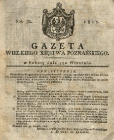 Gazeta Wielkiego Xięstwa Poznańskiego 1815.09.09 Nr72