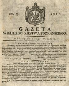 Gazeta Wielkiego Xięstwa Poznańskiego 1815.09.13 Nr73
