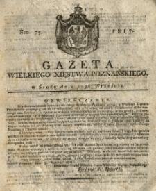 Gazeta Wielkiego Xięstwa Poznańskiego 1815.09.20 Nr75