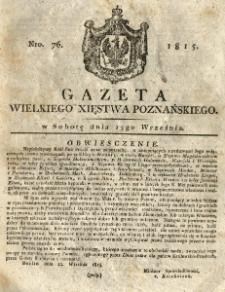 Gazeta Wielkiego Xięstwa Poznańskiego 1815.09.23 Nr76