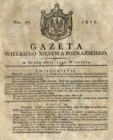 Gazeta Wielkiego Xięstwa Poznańskiego 1815.09.27 Nr77