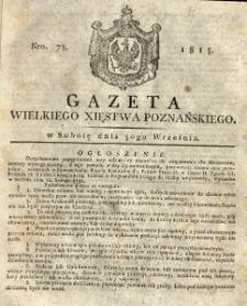 Gazeta Wielkiego Xięstwa Poznańskiego 1815.09.30 Nr78