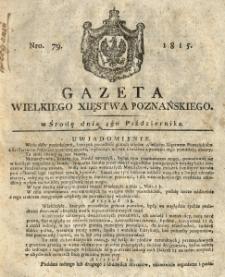 Gazeta Wielkiego Xięstwa Poznańskiego 1815.10.04 Nr79