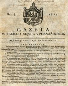 Gazeta Wielkiego Xięstwa Poznańskiego 1815.10.11 Nr81