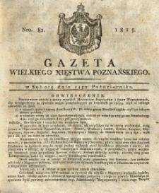 Gazeta Wielkiego Xięstwa Poznańskiego 1815.10.14 Nr82