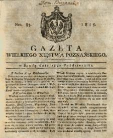 Gazeta Wielkiego Xięstwa Poznańskiego 1815.10.18 Nr83