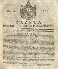 Gazeta Wielkiego Xięstwa Poznańskiego 1815.10.21 Nr84