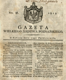 Gazeta Wielkiego Xięstwa Poznańskiego 1815.10.28 Nr86