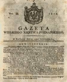Gazeta Wielkiego Xięstwa Poznańskiego 1815.11.04 Nr88