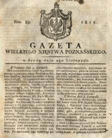 Gazeta Wielkiego Xięstwa Poznańskiego 1815.11.08 Nr89