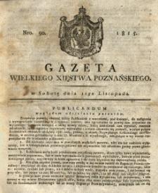 Gazeta Wielkiego Xięstwa Poznańskiego 1815.11.11 Nr90