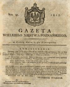 Gazeta Wielkiego Xięstwa Poznańskiego 1815.11.15 Nr91
