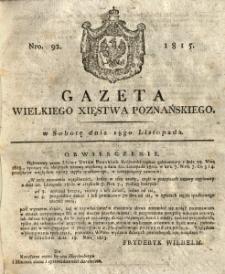 Gazeta Wielkiego Xięstwa Poznańskiego 1815.11.18 Nr92
