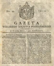 Gazeta Wielkiego Xięstwa Poznańskiego 1815.11.22 Nr93