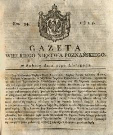 Gazeta Wielkiego Xięstwa Poznańskiego 1815.11.25 Nr94