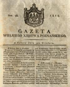 Gazeta Wielkiego Xięstwa Poznańskiego 1815.12.09 Nr98