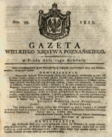Gazeta Wielkiego Xięstwa Poznańskiego 1815.12.13 Nr99
