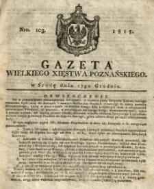Gazeta Wielkiego Xięstwa Poznańskiego 1815.12.27 Nr103
