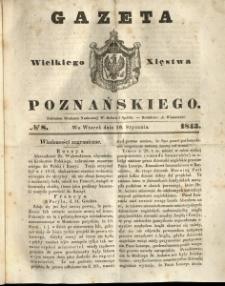 Gazeta Wielkiego Xięstwa Poznańskiego 1843.01.10 Nr8